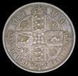 London Coins : A158 : Lot 1934 : Florin 1852 ESC 806 NEF with attractive toning, comes with old collector's ticket stating '...