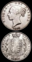 London Coins : A158 : Lot 3293 : Halfcrowns (2) 1836 ESC 666 Good Fine with dark tone, 1844 ESC 677 Good Fine
