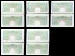 London Coins : A158 : Lot 33 : One Pound Catterns (10) B225 issued 1930, 5 consecutively numbered pairs, prefixes M62, O16, S31 &am...