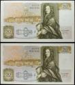 London Coins : A158 : Lot 90 : Fifty Pounds Somerset (2) B352 issued 1981, First Run notes A01 089348 about UNC and A01 563660 good...