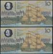 London Coins : A159 : Lot 1580 : Australia 10 Dollars Commemorative issue 1988, scarce first run prefix 'AA00', polymer pla...