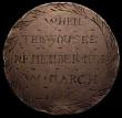 London Coins : A160 : Lot 1856 : Engraved Love Token Penny George III (1797) WHEN THIS YOU SEE REMEMBER ME W.MARCH 1800, Reverse a tr...