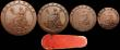 London Coins : A160 : Lot 2903 : Twopence 1797 Proof in Bronzed Copper Peck 1068 KT2, nFDC and nicely toned, Penny 1797 Proof in bron...