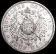 London Coins : A160 : Lot 3248 : German States - Prussia 5 Marks 1901A KM#526 UNC or very near so and lustrous, the obverse with some...