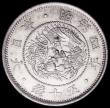 London Coins : A160 : Lot 3319 : Japan 50 Sen Year 4 (1871) 19mm circle of dots around the dragon, Y#4a.1 EF and lustrous with a smal...