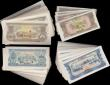 London Coins : A160 : Lot 440 : Laos bulk lot (384), 500 Kip (100), 100 Kip (200) & 20 Kip (84), not dated these notes were prin...