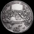 London Coins : A161 : Lot 1367 : Swiss Cantons - Zurich City Thaler 1730 Date in cartouche below view of the city, KM#143.2 NEF