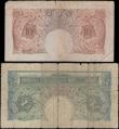 London Coins : A161 : Lot 40 : Ten Shillings Peppiatt & One Pound Beale, a pair of SOLID serial number notes, Peppiatt 10/- ser...