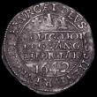 London Coins : A162 : Lot 1627 : Shilling Charles I Oxford Mint 1642,  Oxford Bust (small) , Reverse: Three Oxford Plumes, S.2971 Obv...