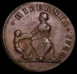 London Coins : A162 : Lot 1702 : USA/Ireland Halfpenny 1722 Woods Harp to left Breen 144 NEF/GVF