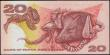 London Coins : A163 : Lot 1530 : Papua New Guinea 20 kina SPECIMEN issued 1977, series SAA 000000, without 'specimen' overp...