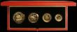 London Coins : A163 : Lot 2012 : Solomon Islands Four Coin Gold Set 1992 50th Anniversary Coral Sea 1942 -1992, $10, $25, $50, $100 g...