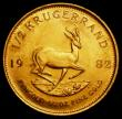 London Coins : A163 : Lot 2144 : South Africa Half Krugerrand 1982 KM#107 UNC with a thin scratch on the reverse
