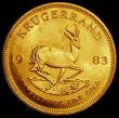 London Coins : A163 : Lot 2150 : South Africa Krugerrand 1983 KM#73 UNC lightly toning