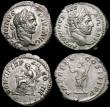 London Coins : A163 : Lot 220 : Roman (3) Ar Denarius (2) Caracalla (209 AD) Obverse: Laureate Head right ANTONINVS PIVS AVG, Revers...