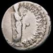 London Coins : A163 : Lot 240 : Roman Ar Denarius Mark Antony, Athens Mint, 38-37BC. Obverse: Mark Antony standing right, dressed as...