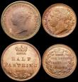 London Coins : A164 : Lot 1147 : Halfpennies (2) 1799 5 Incuse Gunports Peck 1248 UNC the obverse toned with some lustre, the reverse...
