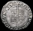 London Coins : A164 : Lot 836 : Groat Elizabeth I Second Issue S.2556 mintmark Cross Crosslet Near VF and pleasing