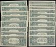 London Coins : A165 : Lot 1071 : USA 1 Dollars (19) a group of star replacement notes and silver certificates in various grades to ab...