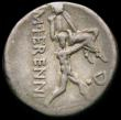 London Coins : A165 : Lot 2100 : Roman Republic, M.Herennius c.108-107BC Obverse: Head of Pietas right, wearing stephane PIETAS downw...