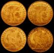 London Coins : A165 : Lot 2149 : France 10 Francs Gold (3) 1911A KM#846 VF, 1912A KM#846 (2) GVF and NEF, Canada Dollar 1994 Aureate ...