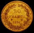London Coins : A165 : Lot 2159 : France 20 Francs Gold 1831W Lille Mint KM#746.4 GVF a scarcer one-year type
