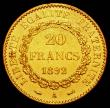 London Coins : A165 : Lot 2162 : France 20 Francs Gold 1892A KM#825 EF and lustrous, with a mintage of 226,000 this is the lowest min...
