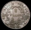 London Coins : A165 : Lot 2174 : France One Franc An12a KM#649.1 EF the reverse slightly unevenly toned, scarce in high grade