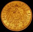 London Coins : A165 : Lot 2176 : German States - Baden 20 Marks Gold 1911G KM#284 EF