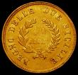 London Coins : A165 : Lot 2213 : Italian States - Naples 40 Lire Gold 1813 KM#266 Good Fine, a scarce one-year type, lists at $950 Fi...