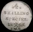 London Coins : A165 : Lot 2234 : Norway 4 Skilling 1825 JMK KM#298 UNC and attractively toned, the edge a little uneven at 5 o'c...