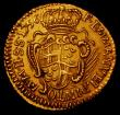 London Coins : A165 : Lot 2236 : Order of Malta 5 Scudi Gold 1756 KM#254 NVF a scarce one-year type