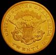 London Coins : A165 : Lot 2353 : USA Twenty Dollars Gold 1859O Breen 7196, thin mintmark, centrally positioned between the N and the ...