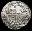 London Coins : A165 : Lot 2417 : Halfgroat Henry VIII Canterbury Mint, Archbishop Warham, WA beside shield S.2343 mintmark uncertain ...