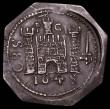 London Coins : A165 : Lot 2456 : Shilling Charles I Pontefract besieged 1648 , PC above castle, on an octagonal flan S.3148 a bold ex...