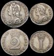 London Coins : A165 : Lot 2786 : Maundy Set 1739 ESC 2407, Bull 1770 VF to EF with an attractive and nicely matched original tone, th...