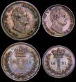 London Coins : A165 : Lot 2790 : Maundy Set 1831 Fourpence, Twopence and Penny with frosted portraits, Proofs from the set, the Three...