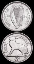 London Coins : A165 : Lot 3688 : Ireland (2) Sixpence 1934 S.6628 EF, Threepence 1934 S.6629 GEF