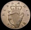 London Coins : A165 : Lot 3690 : Ireland Farthing 1738 S.6608 GVF