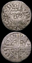 London Coins : A165 : Lot 3693 : Ireland Pennies (2) John, Dublin Mint moneyer Roberd S.6228 About VF with underlying tone, Henry III...