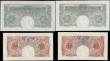 London Coins : A165 : Lot 38 : Bank of England (4) an early group comprising Mahon (2) Ten Shillings B210 Red/Brown issue 1928, ser...