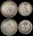 London Coins : A165 : Lot 3906 : Maundy Set 1890 ESC 2505, Bull 3548 GVF to A/UNC the Threepence lustrous, possibly a currency issue,...