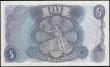 London Coins : A165 : Lot 406 : Five Pound QE2 Portrait and child Britannia, Hollom B298 Replacement issue 1963, series M10 325139, ...