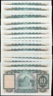 London Coins : A165 : Lot 618 : Hong Kong and Shanghai Banking Corporation 10 Dollars (17) including Pick 182g signature titles Chie...