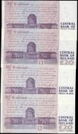 London Coins : A165 : Lot 635 : Ireland Republic The Central Bank of Ireland 20 Pounds signatures M. O'Conaill & P. Mullark...