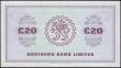 London Coins : A165 : Lot 684 : Northern Ireland Northern Bank Limited £20 dated 15 June 1988 low number F1800010 (series bega...