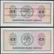 London Coins : A165 : Lot 691 : Northern Ireland Northern Bank Limited 1 Pounds 1st July 1970 Wilson signature set with a training S...