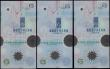 London Coins : A165 : Lot 701 : Northern Ireland Northern Bank Limited 5 Pounds Commemorative Millennium Polymer issues (3) Pick 203...