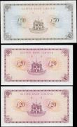 London Coins : A165 : Lot 743 : Northern Ireland Ulster Bank Limited signature V.Chambers issues 1980's (5) comprising 20 Pound...