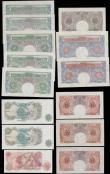 London Coins : A165 : Lot 84 : Bank of England a small group in mixed grades VF - UNC (14) comprising Catterns (1) One Pound Green ...